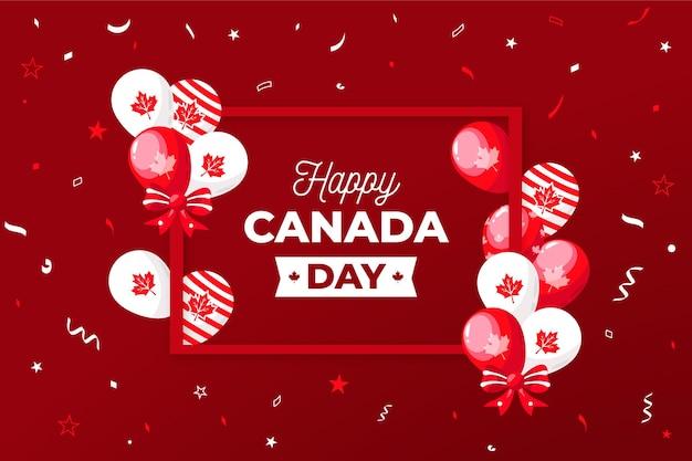 Carta da parati con palloncini per il giorno del canada Vettore gratuito