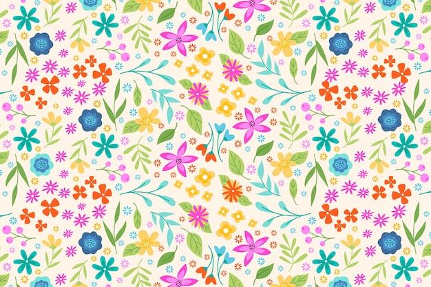 Carta da parati con stampa floreale colorata ditsy Vettore gratuito