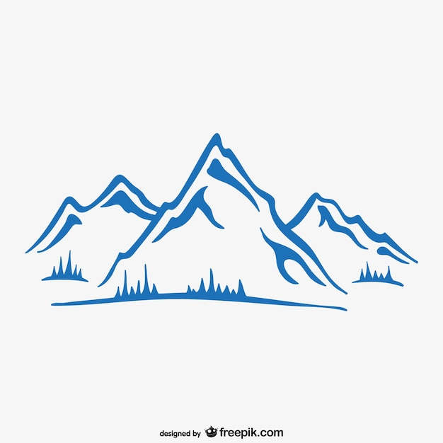 Carta da parati di inchiostro di montagna Vettore gratuito