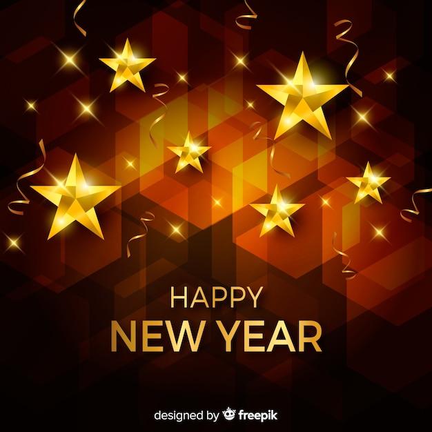 Carta da parati dorata del nuovo anno 2020 Vettore gratuito