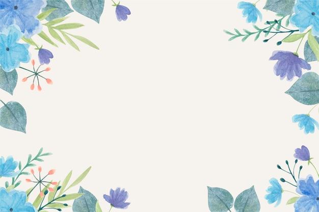 Carta da parati fiori ad acquerello in colori pastello Vettore gratuito
