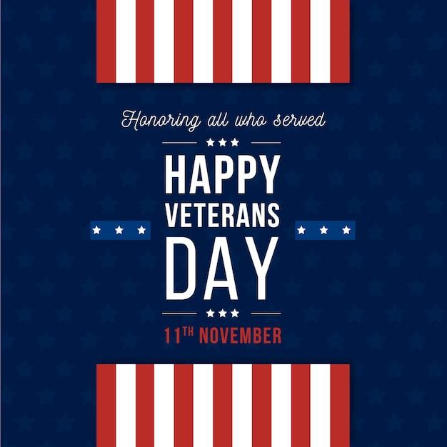 Carta da parati giorno veterani design piatto Vettore gratuito