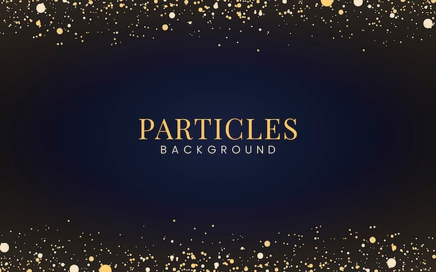 Carta da parati minimal con particelle decorative glitter dorate Vettore gratuito