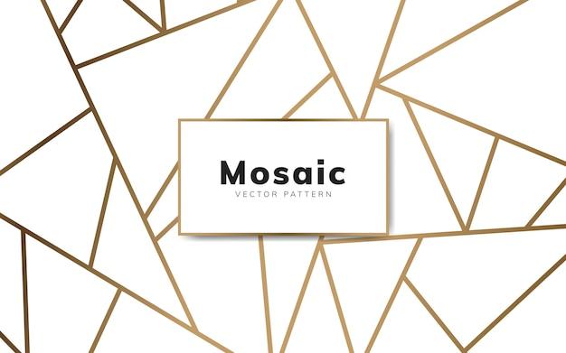 Carta da parati moderna in mosaico in bianco e oro Vettore gratuito