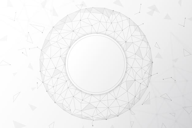 Carta da parati tecnologia bianca Vettore gratuito