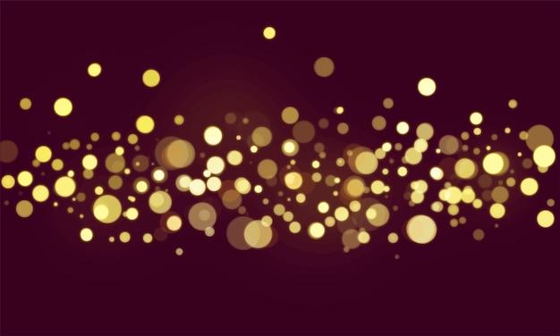 Carta da parati vaga delle luci del bokeh astratto Vettore gratuito