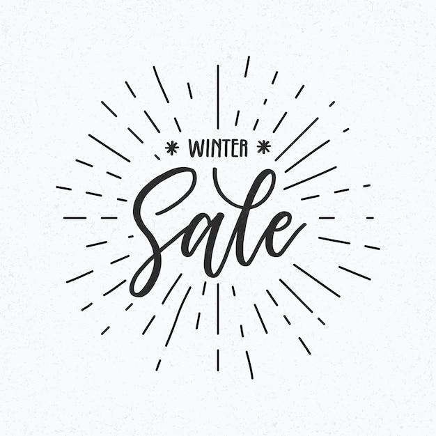 Carta da parati vendita inverno disegnata a mano Vettore gratuito