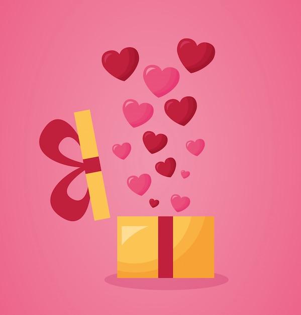 Carta del giorno di san valentino Vettore Premium