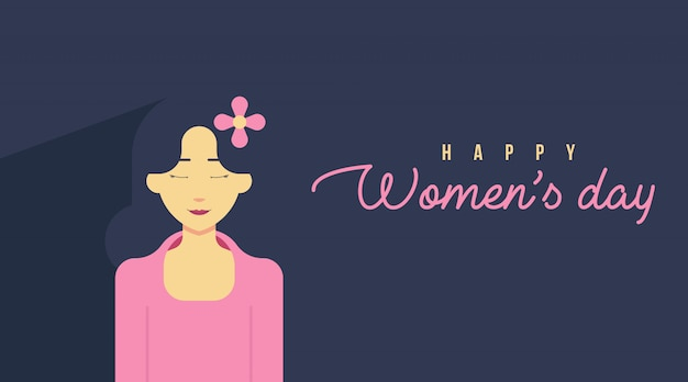 Carta dell'8 marzo per la festa della donna Vettore Premium