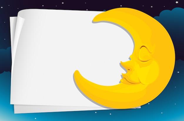 Carta della luna Vettore gratuito