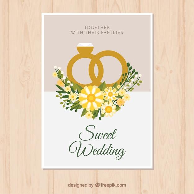 23 Anniversario Di Matrimonio.Carta Di Anniversario Di Matrimonio Con Anelli In Stile Piano