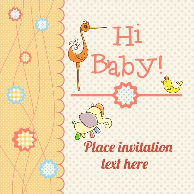 Carta di annuncio del bambino scaricare gratis Vettore gratuito