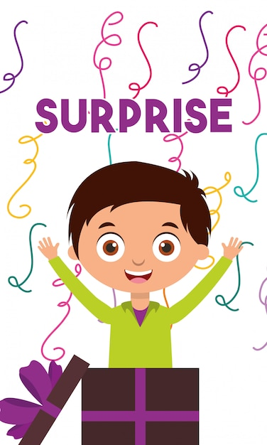 Carta di buon compleanno con i bambini Vettore Premium
