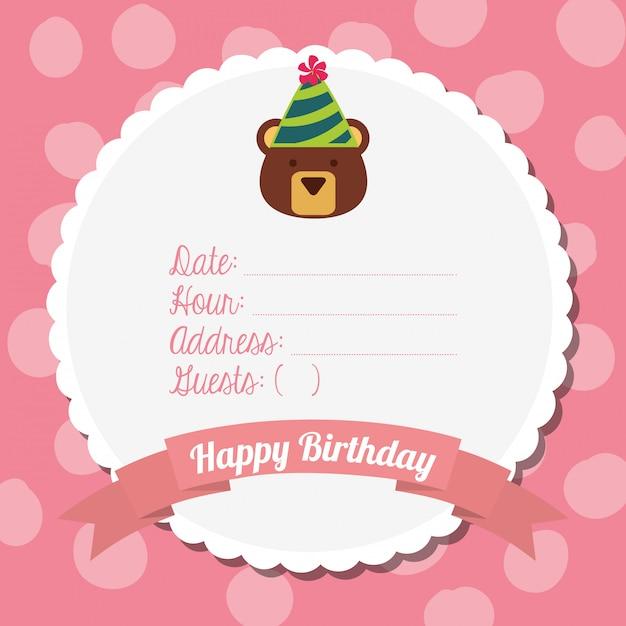 Carta di buon compleanno Vettore gratuito