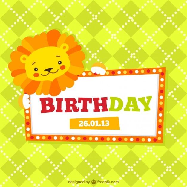 Carta Di Compleanno Per Bambini Scaricare Vettori Gratis