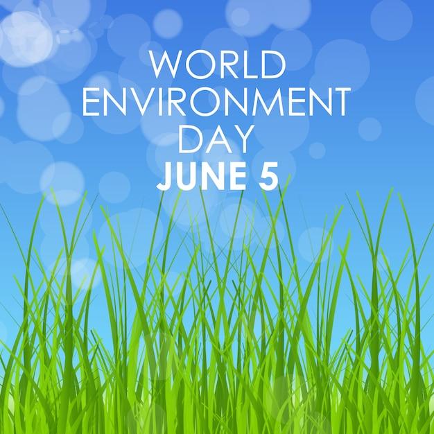 Carta di concetto di mondo ambiente giorno Vettore Premium