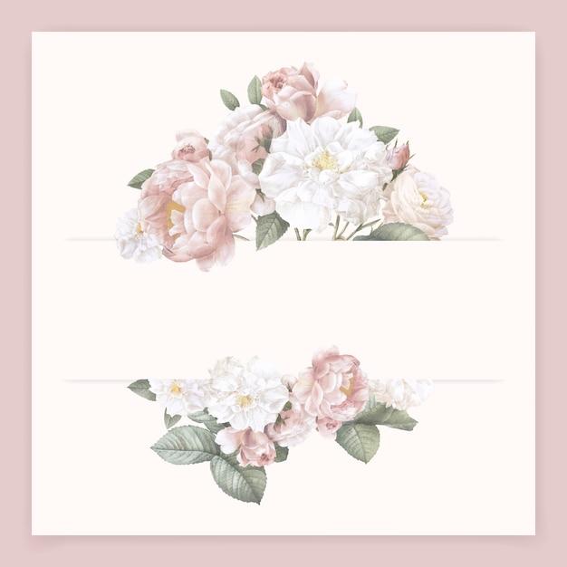 Carta di fiori femminile Vettore gratuito