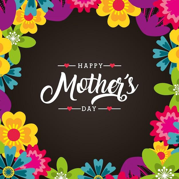 Carta di giorno della madre Vettore Premium