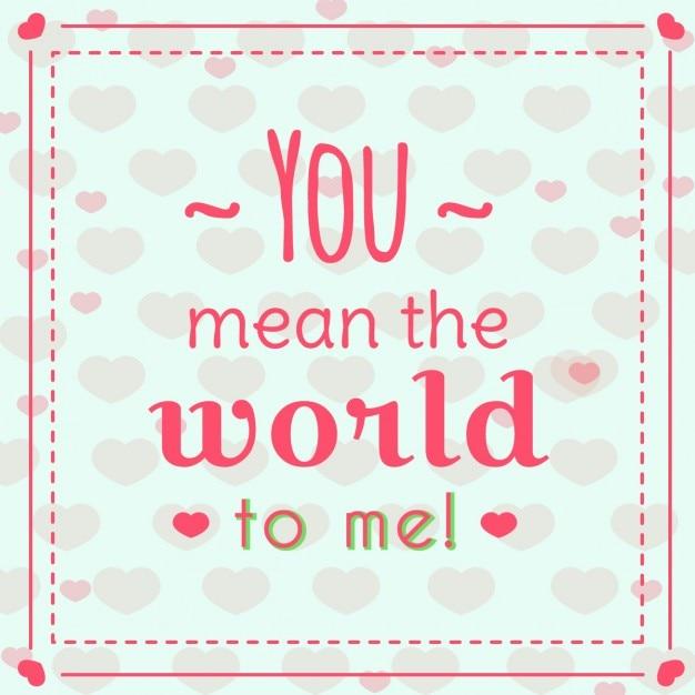 Carta Di San Valentino Con Una Frase D Amore Scaricare Vettori Gratis