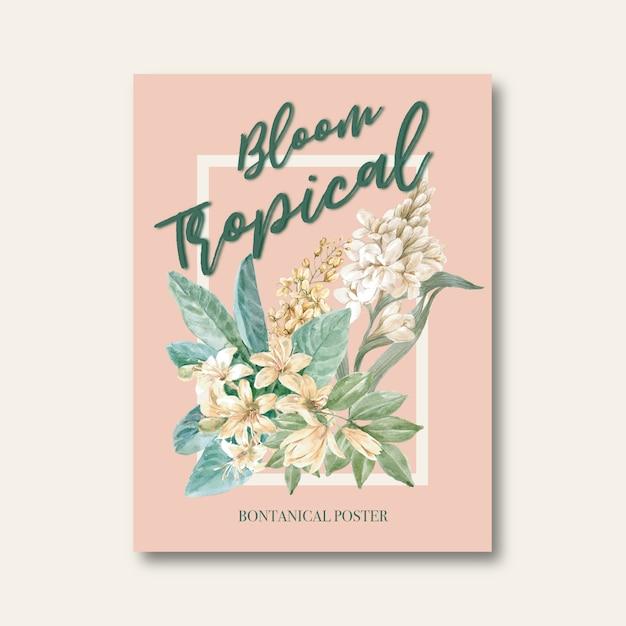 Carta floreale Vettore gratuito