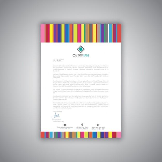 Amato Carta intestata di affari con strisce design moderno | Scaricare  IM76