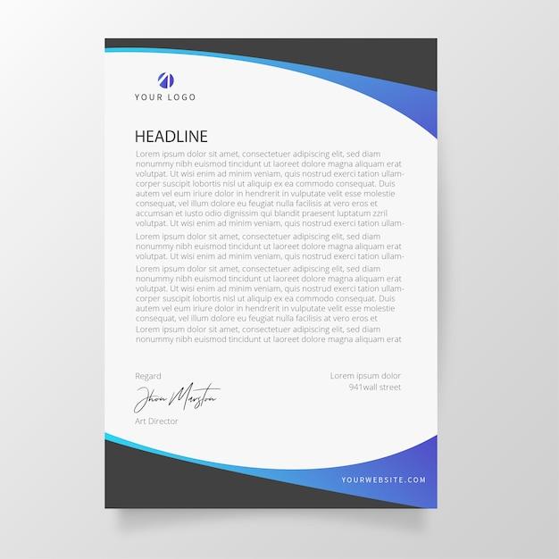 Carta intestata moderna con forme astratte Vettore gratuito