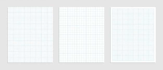 Carta millimetrata matematica impostata per la rappresentazione dei dati Vettore gratuito