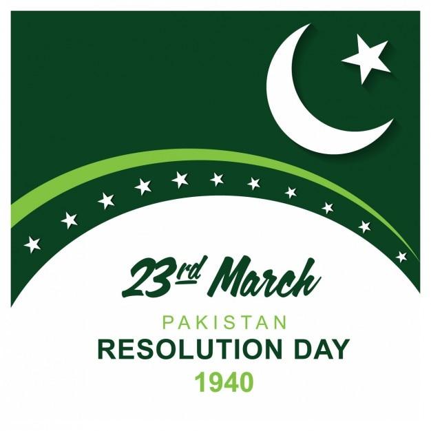 Carta pakistan risoluzione giorno Vettore gratuito