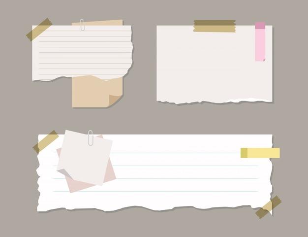 Carta per appunti morbida colorata e foderata Vettore Premium