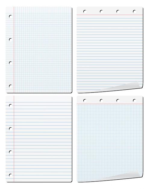 Carta per notebook Vettore Premium