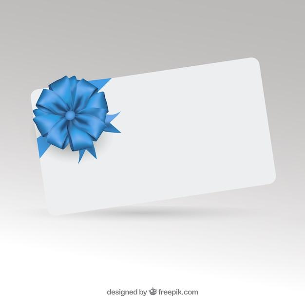 carta regalo elegante con nastro scaricare vettori gratis