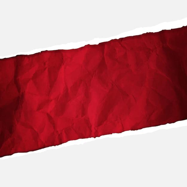 Carta rossa accartocciata Vettore Premium