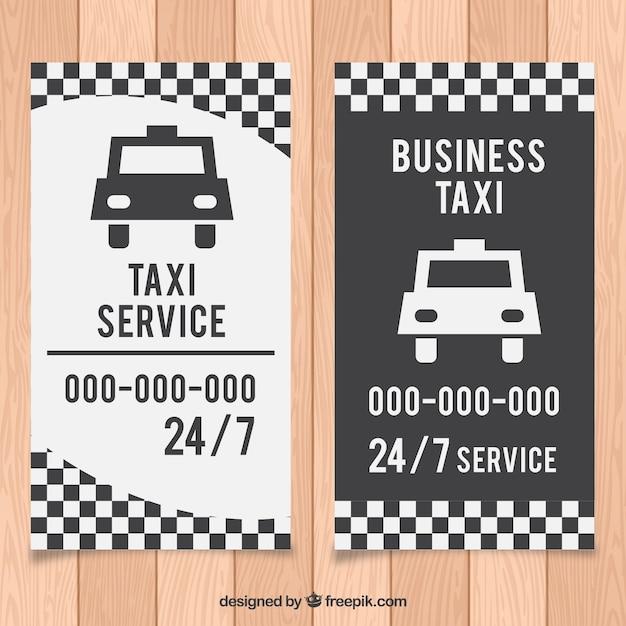 Carta tassista bianco e nero Vettore gratuito