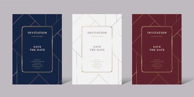 Carta vettoriale di invito lusso vintage Vettore Premium