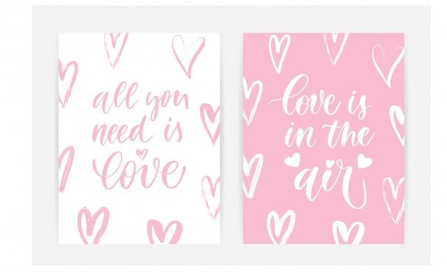 Carte d'amore Vettore Premium