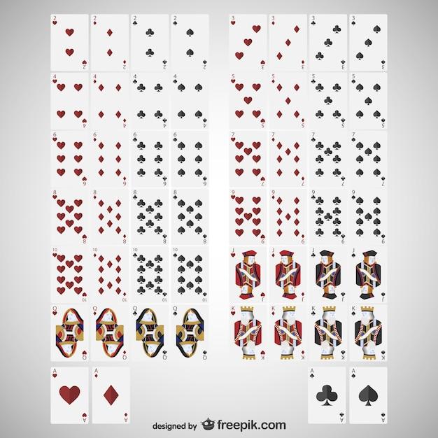 Carte deck vettoriale Vettore gratuito