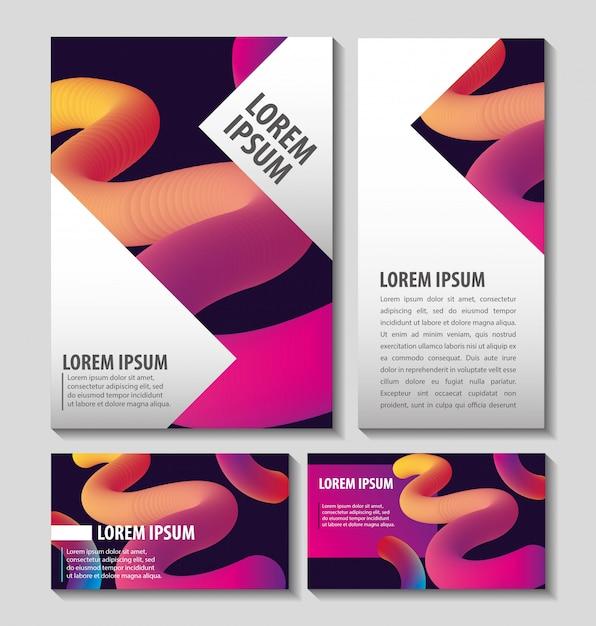 Carte e modelli di fuidi colorati Vettore Premium