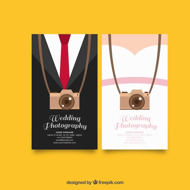 Carte originali per la fotografia di matrimonio Vettore gratuito