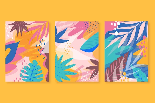 Carte tropicali astratte Vettore gratuito