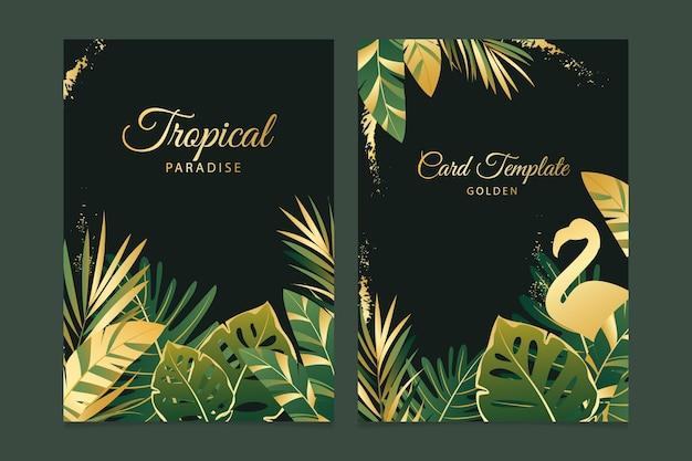 Carte tropicali con modello di spruzzi d'oro Vettore gratuito
