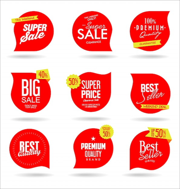 Cartellino del prezzo della carta Vettore Premium