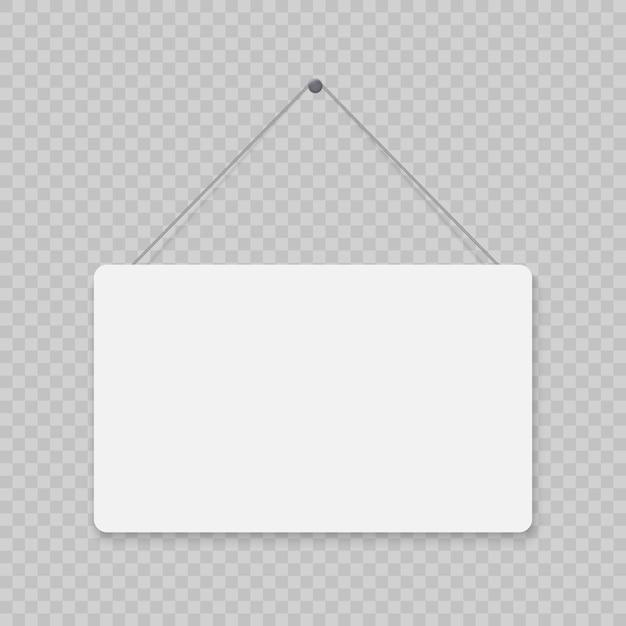Cartello porta appesa Vettore Premium