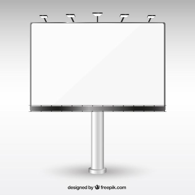 Cartellone bianco Vettore gratuito
