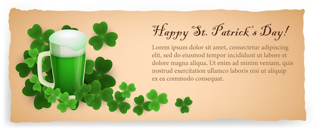 Cartolina creativa di happy saint patricks day beige Vettore gratuito