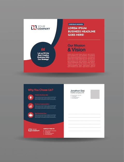 Cartolina d'affari Vettore Premium