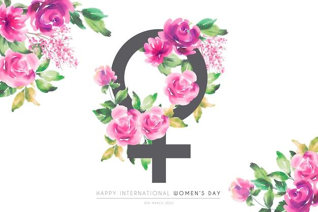 Cartolina d'auguri di bella giornata floreale delle donne Vettore gratuito