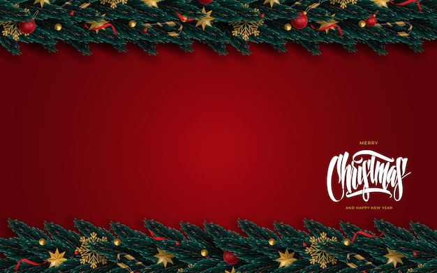 Cartolina d'auguri di buon natale e felice anno nuovo Vettore Premium
