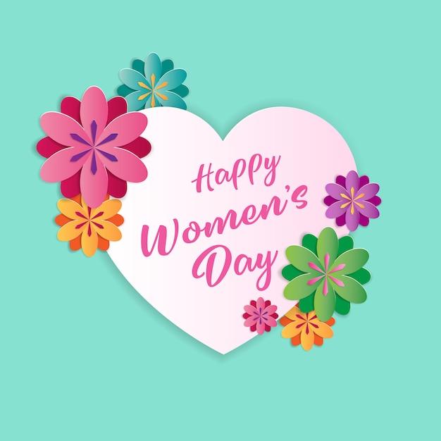 Cartolina d'auguri di felice festa della donna Vettore Premium