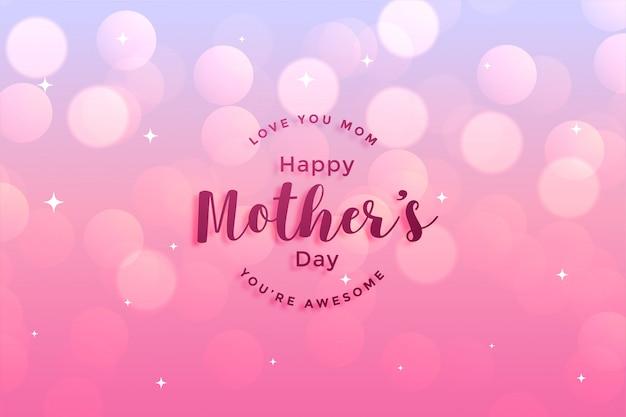 Cartolina d'auguri di felice festa della mamma Vettore gratuito