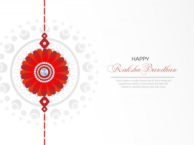 Cartolina d'auguri di felice raksha bandhan Vettore Premium